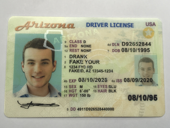 Example of how to get a fake id with a required quality cardholder image.