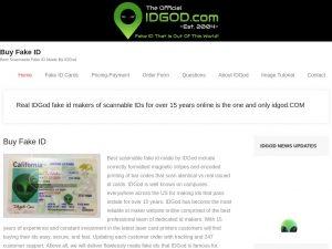 Idgod.com fake id screenshot - Where to get a fake id
